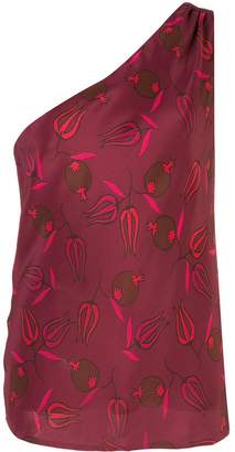 Rebecca De Ravenel abstract-print silk top