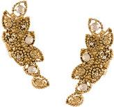 Oscar de la Renta sun star button earrings