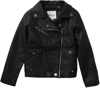 Urban Republic Faux Leather Moto Jacket (Big Girls)