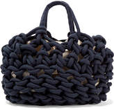 Alienina Woven Cotton Tote - Navy