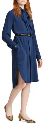Polo Ralph Lauren Necktie Twill Shirtdress
