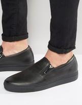 HUGO BOSS HUGO by Futurism Double Zip Slip On Sneakers