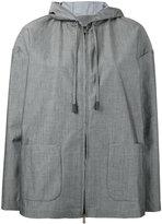 Eleventy patch pockets hooded jacket - women - Cotton/Polyamide - XS