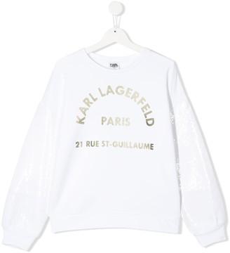 Karl Lagerfeld Paris TEEN logo printed sweatshirt