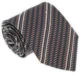 Missoni U4530 Pink/gray Regimental 100% Silk Tie.