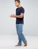 Ted Baker T-shirt & Lounge Pants Set In Flannel Check