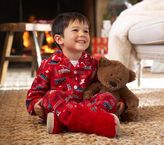 Pottery Barn Kids All Aboard Flannel Pajamas
