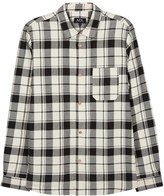 A.p.c. Grizzli Checked Cotton Blend Shirt