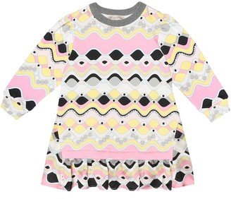 Emilio Pucci Kids Printed cotton dress
