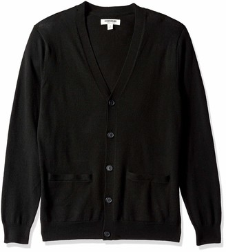 Goodthreads Amazon Brand Men's Lightweight Merino Wool Cardigan Sweater