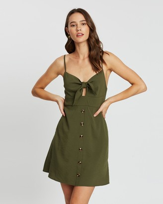 Atmos & Here Marlo Tie-Front Dress