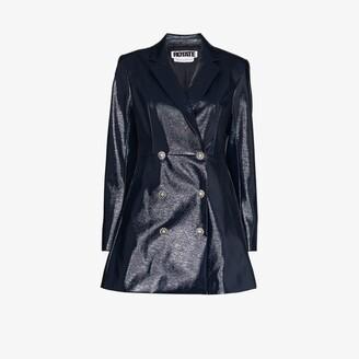 Rotate by Birger Christensen Newton patent blazer dress