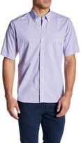 Tailorbyrd W Wilson Short Sleeve Plaid Trim Fit Shirt