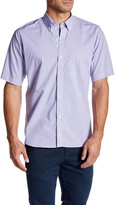 Tailorbyrd W Wilson Short Sleeve Plaid Trim Fit Woven Shirt