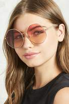 Forever 21 Ombre Round Sunglasses