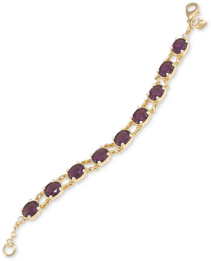 Carolee Bracelet, Gold-Tone Oval Stone Flex Bracelet