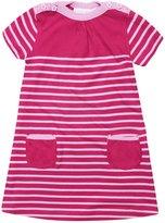 Jo-Jo JoJo Maman Bebe Breton Striped Dress (Baby)-Rhubarb/Pink-12-18 Months