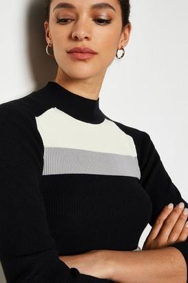 Karen Millen Colourblock Rib Knit Jumper