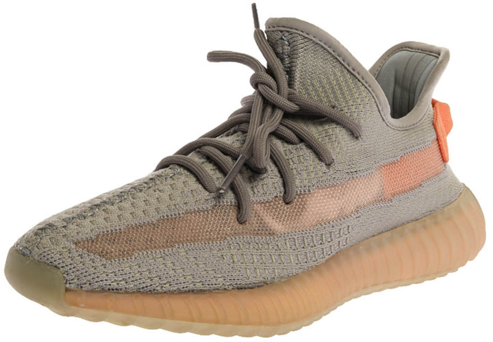 Yeezy x Adidas Grey Cotton Knit Boost 350 V2 'Trfrm' Sneakers Size 39.5