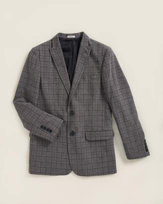 Calvin Klein Boys 8-20) Deep Black Windowpane Jacket