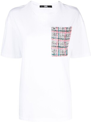 Karl Lagerfeld Paris Boucle pocket T-shirt