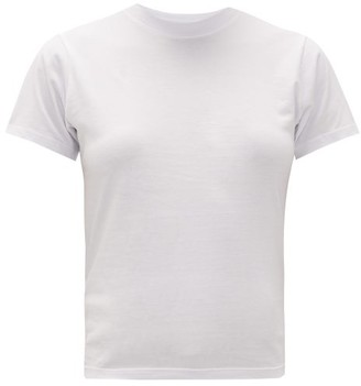 Hanes X Karla - The Crew Cotton Jersey Cropped T Shirt - Womens - White