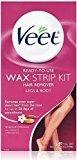 Veet Ready To Use Wax Strips Legs & Body 40 ea by