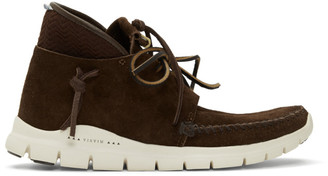 Visvim Brown UTE Moc Trainer Mid Folk Sneakers
