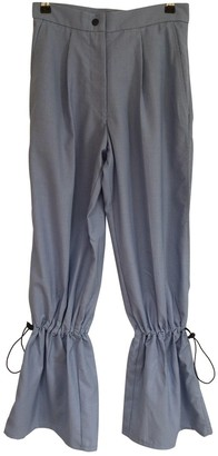 Thebe Magugu Blue Wool Trousers for Women