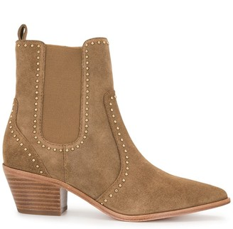 Paige Willa stud-embellished ankle boots