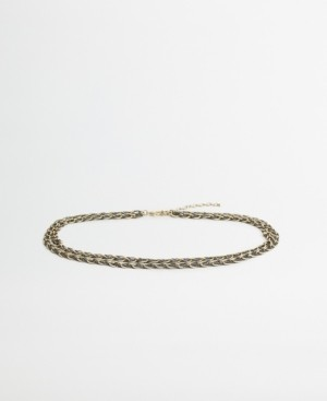 MANGO Braided Chain Belt