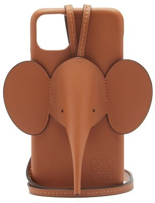 Loewe Elephant Iphone 11 Pro Max Leather Phone Case - Tan