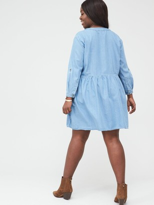 V By Very Curve Relaxed Fit Dress - Blue