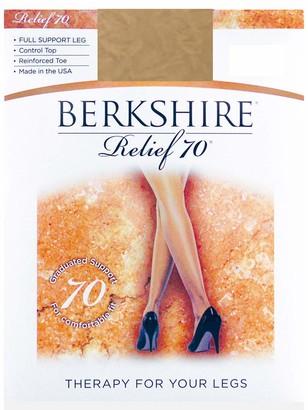 Berkshire Women's Relief Support Control Top Pantyhose 8100 70 Denier