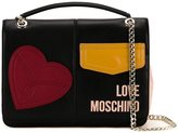Love Moschino medium patches shoulder bag