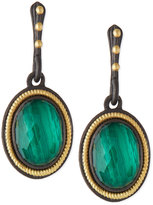 Armenta Malachite Blue Topaz Rope-Bezel Drop Earrings