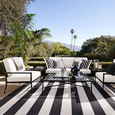 Williams-Sonoma Williams Sonoma Patio Stripe Indoor/Outdoor Rug, Black