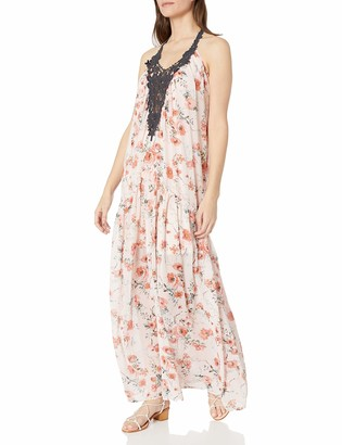 Taylor & Sage Women's Print Maxi Dress with Large Applique