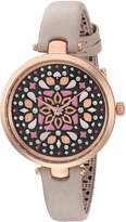 Kate Spade Women's 'Holland' Quartz Stainless Steel and Leather Casual Watch, Color:Grey (Model: KSW1260)