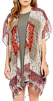 So It Is Medallion Printed Kimono