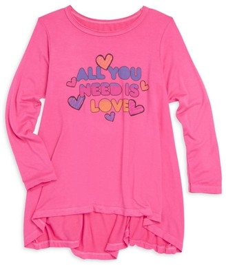 Rowdy Sprout Baby's, Little Girl's & Girl's All You Need Is Love Tee