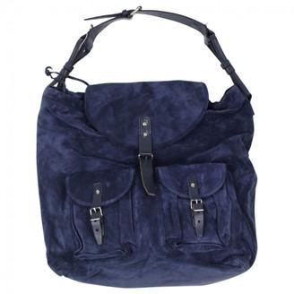 Balenciaga Navy Suede Handbags