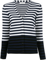 Sonia Rykiel striped V-neck cardigan - women - Cotton/Polyester - M
