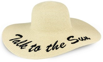 Just Jamie Talk to the Sun Floppy Straw Hat