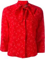Ermanno Scervino bow collar crop jacket - women - Polyamide/Polyester/Spandex/Elastane/Viscose - 40