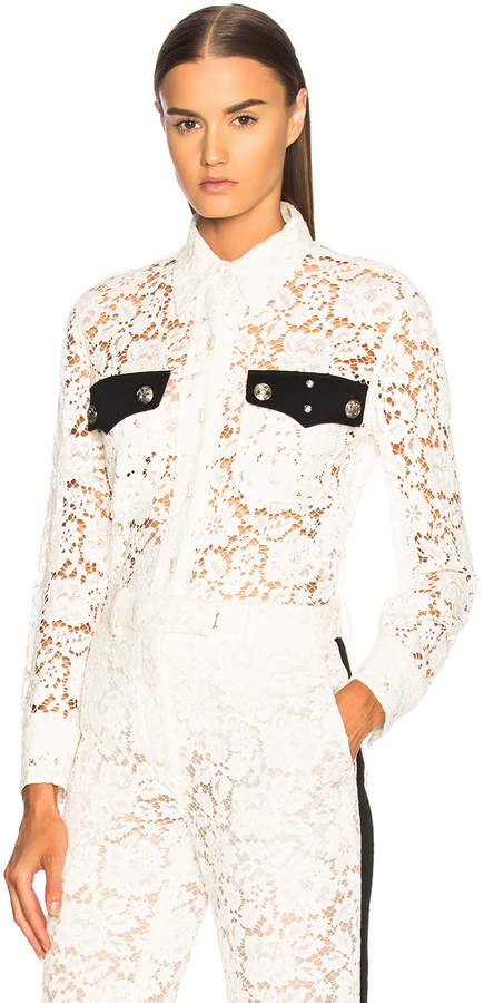 Calvin Klein Cotton Viscose Lace Jacket