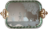 One Kings Lane Vintage Etched Murano Glass Scenic Vanity Tray