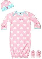 Gerber Baby ' Love 4 Piece Sleepwear Essential Layette Gift Set, Pink, 0-6 Months