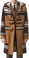 Burberry Men's Icon Stripe Wool Toggle Topcoat