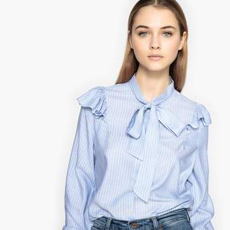 Pepe Jeans Long-Sleeved Pussy Bow Shirt